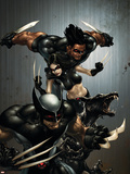 X-Force No.1 Cover: Wolverine, X-23, Wolfsbane and Warpath Plastic Sign by Clayton Crain