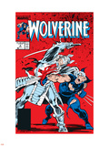 Wolverine No.2 Cover: Wolverine and Silver Samurai Plastic Sign by John Buscema