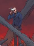 X-Men: Prelude to Schism No.1 Cover: Professor X Using Telepathy Plastic Sign by Giuseppe Camuncoli