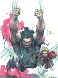 Uncanny X-Men No.441 Cover: Wolverine, Nightcrawler and Angel Wall Decal by Salvador Larroca