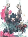Uncanny X-Men No.441 Cover: Wolverine, Nightcrawler and Angel Wall Decal by Salvador Larroca