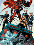 X-Men: Age of Apocalypse One Shot No.1 Group: Magneto, Iceman and Quicksilver Plastic Sign by Andy Kubert