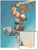 X-Force: Shatterstar No.1 Cover: Shatterstar Wood Print by Marat Mychaels