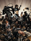 X-Force No.2 Cover: X-23, Warpath and Wolverine Plastic Sign by Clayton Crain