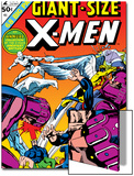 Dave Cockrum - Giant-Size X-Men No.2 Cover: Sentinel, Cyclops, Iceman, Angel and Beast Obrazy