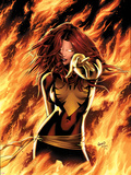 X-Men: Phoenix - Endsong No.1 Cover: Phoenix, Grey and Jean Signe en plastique rigide par Greg Land