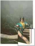 Wolverine: Switchback No.1 Cover: Wolverine Wood Print by Das Pastoras