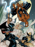 X-Men No.7 Cover: Spider-Man, Cyclops, Wolverine, Storm, and Emma Frost Plastic Sign by Terry Dodson