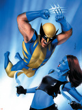 Mystique No.23 Cover: Wolverine and Mystique Plastic Sign