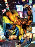 Wolverine No.303 Cover: Sabretooth and Wolverine Fighting Plastic Sign by Brandon Peterson