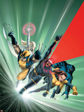 Astonishing X-Men No.1 Cover: Cyclops, Shadowcat, Beast, Wolverine, Emma Frost and X-Men Plastic Sign by John Cassaday