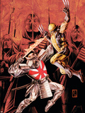 Wolverine Origins No.43 Cover: Wolverine and Silver Samurai Plastic Sign by Doug Braithwaite