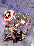 Wolverine Captain America No.4 Cover: Wolverine and Captain America Plastic Sign by Tom Derenick