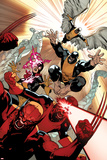 All-New X-Men 10 Cover: Wolverine, Cyclops, Grey, Jean, Beast, Iceman, Angel Plastic Sign by Stuart Immonen