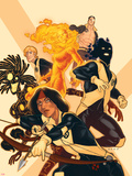 New Mutants No.38 Cover: Moonstar, Sunspot, Magma, Warlock, Cypher, X-Man Plastic Sign by Kris Anka