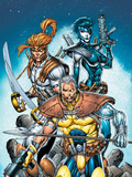 X-Force No.6 Cover: Cable, Shatterstar and Domino Wall Decal by Rob Liefeld