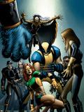 Wolverine No.25 Cover: Wolverine, Storm, Marvel Girl and Cyclops Plastskyltar av John Romita Jr.
