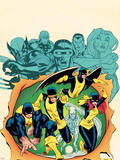 X-Men Giant-Size No.1 Cover: Cyclops, Beast, Marvel Girl, Iceman, and Angel Plastic Sign by Ed McGuinness