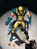 The Pulse N9 Cover: Wolverine, Jones and Jessica Plastic Sign by Michael Lark