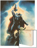 Wolverine First Class No. 15 Cover: Wolverine and Thor Wood Print by Dennis Calero