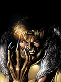Wolverine No.13 Cover: Sabretooth Fighting Wall Decal by Darick Robertson