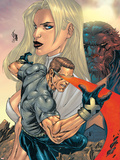 New X-Men No.155 Cover: Cyclops, Emma Frost and Beast Plastic Sign by Salvador Larroca