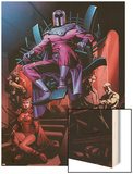 X-Men No.12: Magneto, Scarlet Witch, Mastermind, Quicksilver, Toad Wood Print by Dalibor Talajic