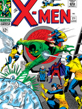 X-Men No.21 Cover: Angel, Beast, Cyclops, Dominus, Iceman, Lucifer, Marvel Girl and Professor X Art by Werner Roth