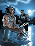 Wolverine Punisher No.3 Cover: Wolverine and Punisher Plastic Sign by C Brunner