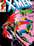 Uncanny X-Men No.201 Cover: Storm and Cyclops Plastic Sign by Rick Leonardi