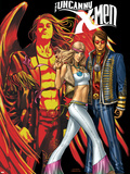 Uncanny X-Men No.497 Cover: Cyclops, Emma Frost and Angel Wall Decal by Mike Choi