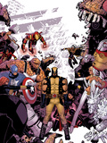 Wolverine & The X-Men No.8 Cover: Wolverine, Captain America, Thing, Storm, Psylocke and Others Poster by Tim Townsend