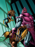 Wolverine: First Class No.3 Cover: Wolverine, Shadowcat and High Evolutionary Plastic Sign by Salvador Espin