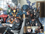 X-Men No.157 Group: Cyclops, Beast, Wolverine, Nightcrawler, Angel, Lockheed and X-Men Wall Decal by Salvador Larroca