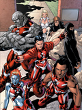 New X-Men: Hellions No.1 Group: Dust, Rockslide, Wither, Mercury and Tag Plastic Sign by Clayton Henry