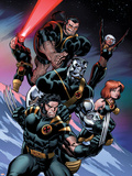 Ultimate X-Men No.100 Cover: Wolverine, Colossus, Grey, Jean, Storm, Beast and Cyclops Plastic Sign by Ed McGuinness