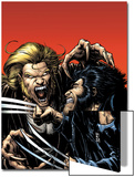 Wolverine No.15 Cover: Wolverine and Sabretooth Prints by Darick Robertson