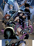 Uncanny X-Men No.538: Psylocke, Storm, Hope Summers, Angel, Iceman, and Namor Print by Terry Dodson
