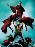 Wolverine No.10 Cover: Wolverine Standing and Lifting Another Plastic Sign by Jae Lee