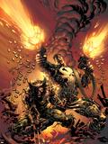 Wolverine Punisher No.1 Cover: Wolverine and Punisher Plastikskilte af Mike Deodato