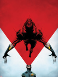Wolverine No.8 Cover: Cyclops Using his Optic Blast on Wolverine Plastic Sign by Jae Lee