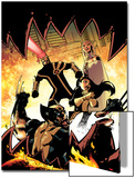Astonishing X-Men No.37 Cover: Wolverine, Armor, Cyclops, and Emma Frost Posters by Jason Pearson