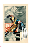 Savage Wolverine 5 Cover: Wolverine Plastic Sign by Frank Cho