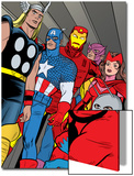 X-Statix No.21 Group: Ant-Man, Captain America, Thor, Iron Man, Scarlet Witch, Hawkeye and Avengers Poster by Michael Allred