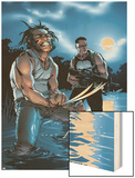 Wolverine Punisher No.3 Cover: Wolverine and Punisher Wood Print by C Brunner