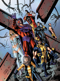 Uncanny X-Men No.534.1 Cover: Shadowcat, Wolverine, Magneto, Cyclops, Colossus, Namor, & Emma Frost Wall Decal by Carlos Pacheco