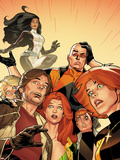 X-Factor No.234: Rictor, Wolfsbane, Siryn, Strong, Guy, M, and Shatterstar Plastic Sign by Kirk Leonard