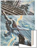 New Mutants No.25: Thor Flying in a Lightning Storm Wood Print by Leandro Fernandez