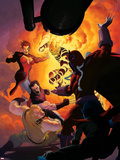 Uncanny X-Force No.11: Magneto, Sabretooth, Wolverine, Jean Grey, Sunfire Wall Decal by Esad Ribic