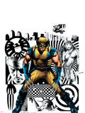Wolverine No.27 Cover: Wolverine, Nick Fury and Elektra Wall Decal by Greg Land